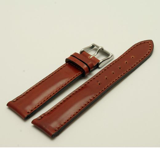 e17ab90ad Fluco Brown Horween Shell Cordovan Watch Strap : Padded : 18mm, 20mm or 22mm